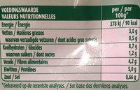 Cereal Doy Puree Linzen Pompoen - Voedingswaarden - fr
