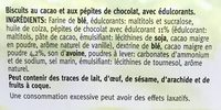Céréal sans sucre chocolate chip cookie - Ingrediënten - fr