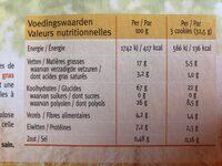 Céréal sans sucre chocolate chip cookie - Voedingswaarden - fr