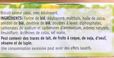 Céréal Coco Biscuits Sans Sucre - Ingrediënten - fr