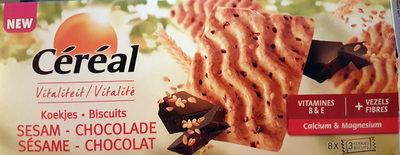 Céréal Sésame-chocolat Biscuits - Product - fr