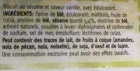 Céréal Sésame-vanille Biscuits - Ingrediënten