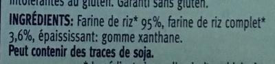 Vermicelli Riz - Ingrédients - fr