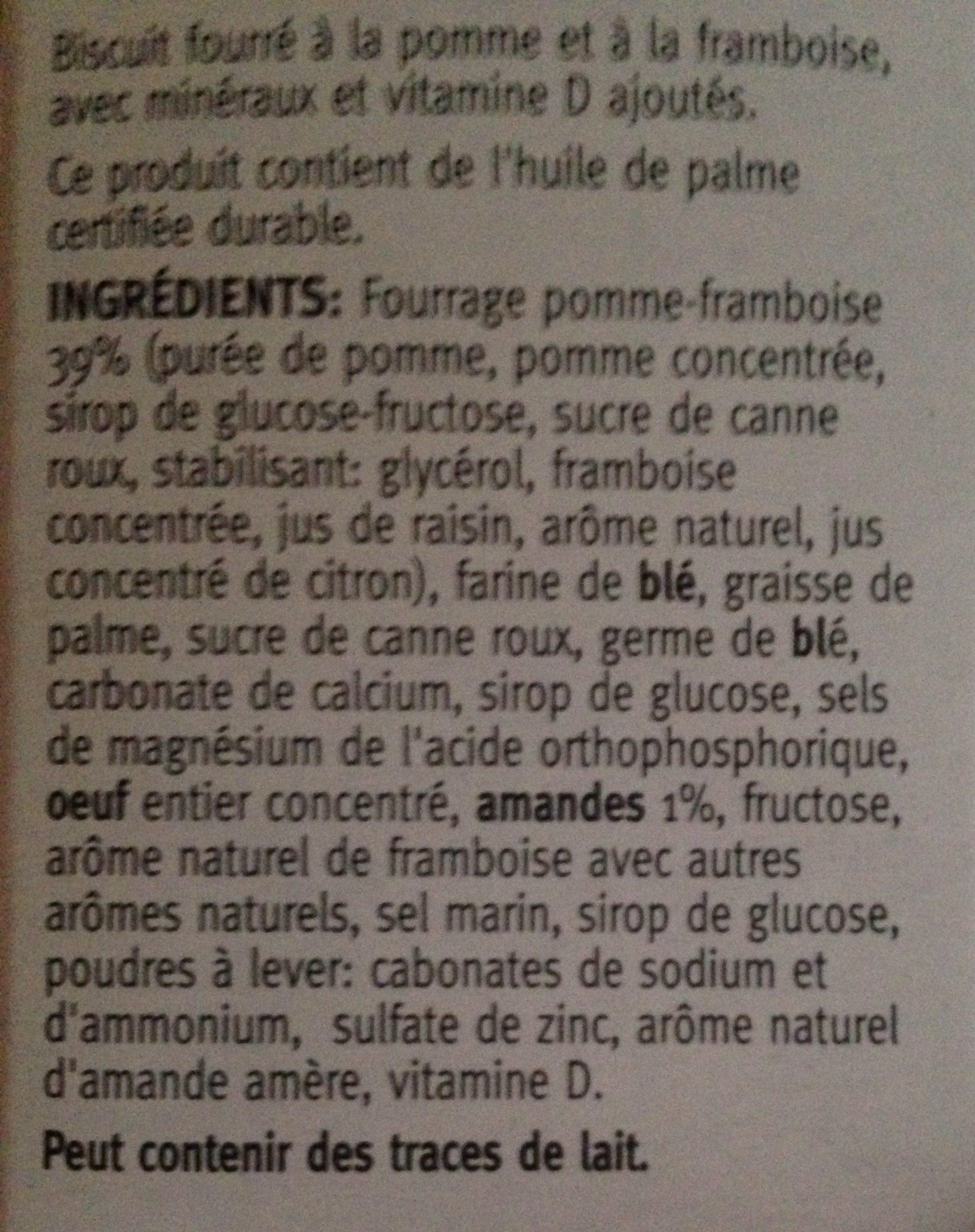 Céréal Cracottes à La Framboise, Kräcker Mit Himbe... - Ingrediënten - fr
