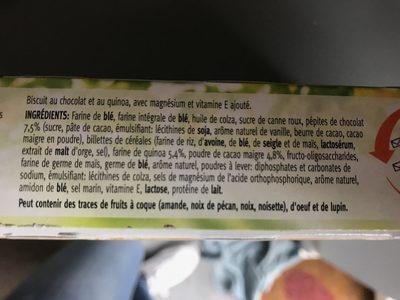 Céréal Sablés Quinoa Cacao - Ingrediënten - fr