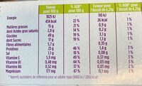 Ma Pause - Informations nutritionnelles