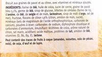 Biscuit citron/pavot - Ingrediënten - fr