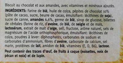 Biscuits Vitalité Chocolat - Amande - Ingrediënten