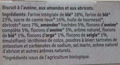 Céréal By Nature Avoine &amande Petits Gâteaux Aux Céréales - Ingrediënten - fr