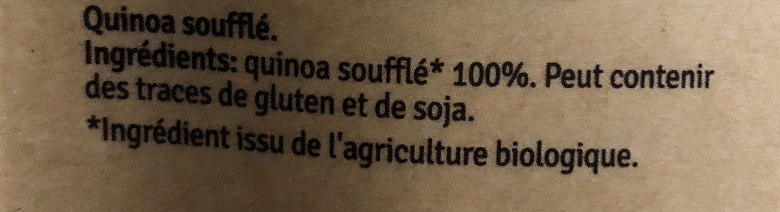 Quinoa soufflé - Ingredients
