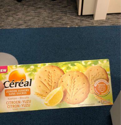 Biscuits Sans Sucre Citron / Yuzu - Produit - fr