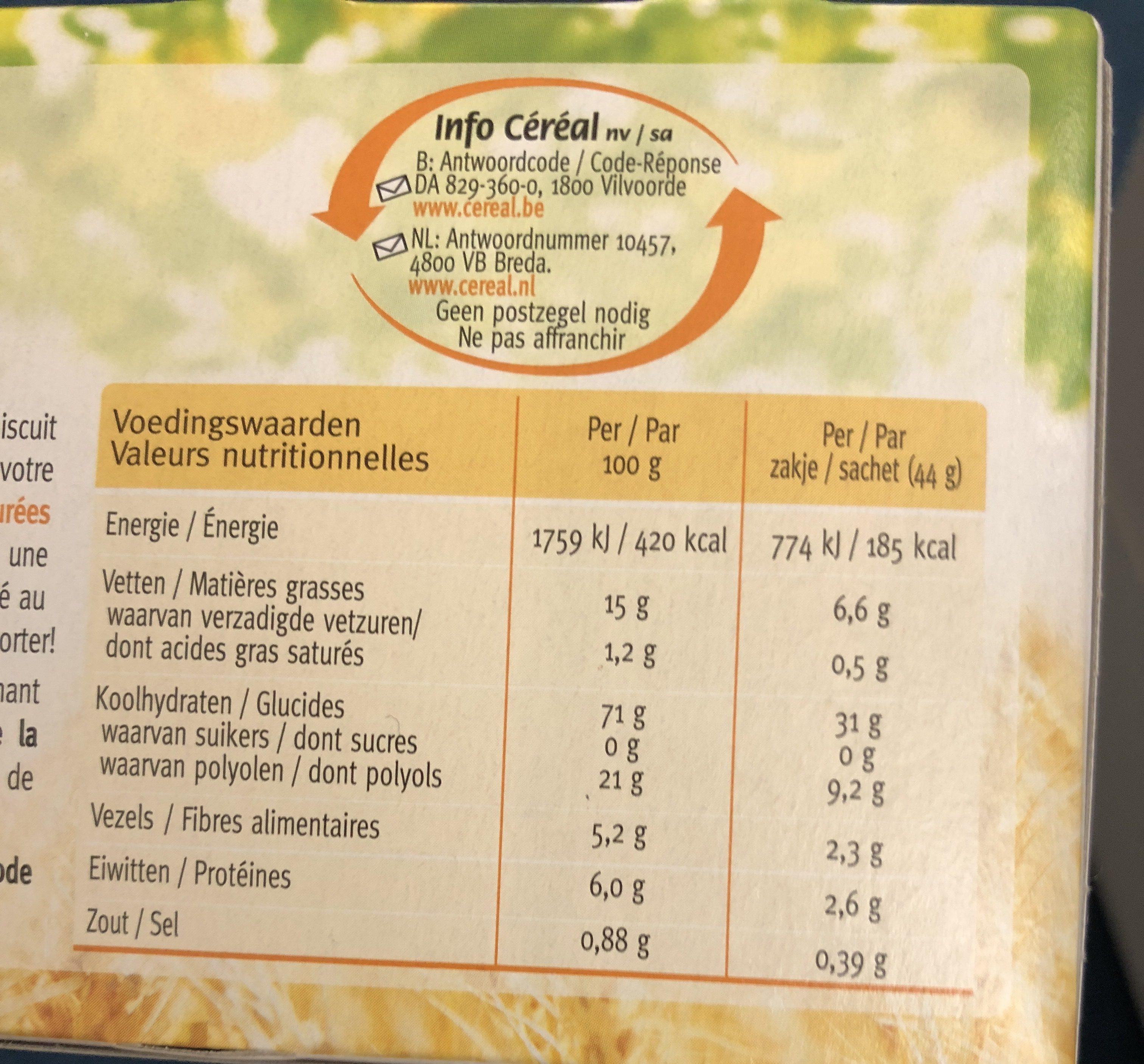 Biscuits Sans Sucre Citron / Yuzu - Ingrédients - fr