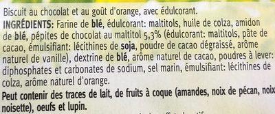 Choc orange - Ingrediënten - fr