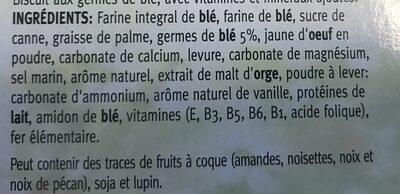 Céréal Biscuits Germes De Blé - Ingrediënten - fr