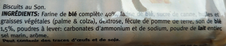 Biscuits au Son - Ingrédients - fr