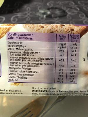 Biscuits au Son - Informations nutritionnelles - fr