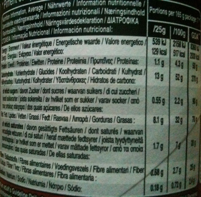 Hot & Spicy - Informations nutritionnelles - fr