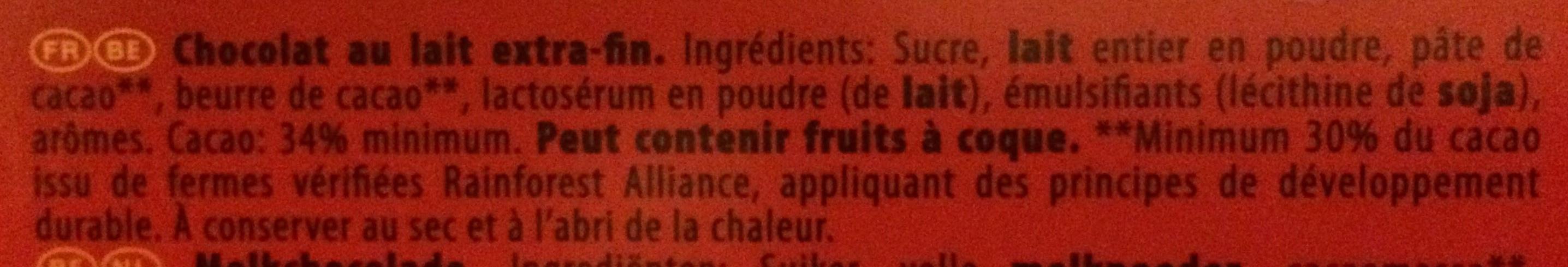 Lait - Ingrediënten
