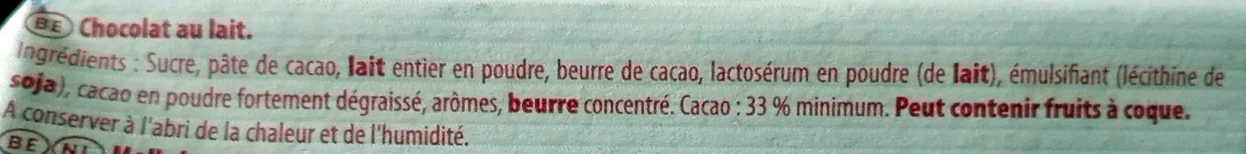 Côte d'Or Lait (33% de cacao) - Ingredients