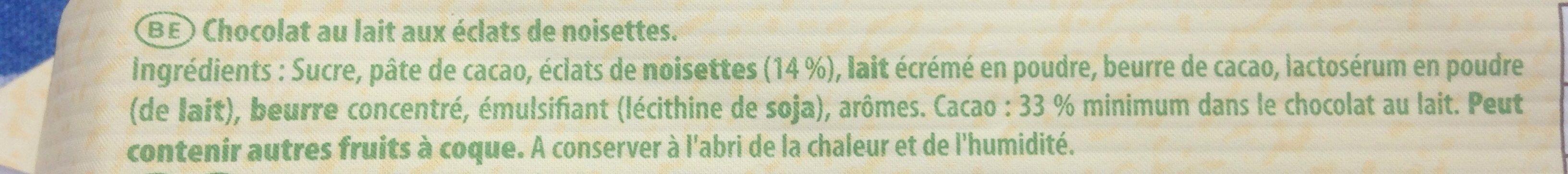 Lait noisettes - Ingredients