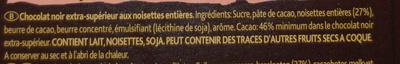 Noir pur noisettes - Ingrediënten