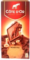 Côte d'Or lait Noisettes - Product - fr