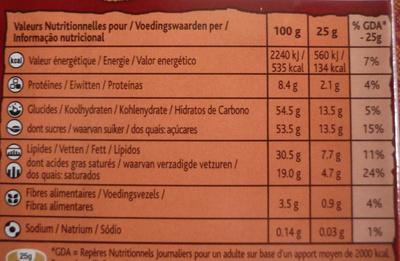 Lait-Melk - Informations nutritionnelles