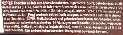 Bars Full Milk With Nuts - Ingrediënten