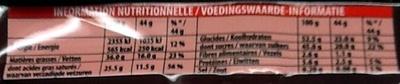 Lait Coco - Informations nutritionnelles