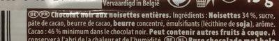 Côte d'Or noir noisettes - Ingrediënten - fr