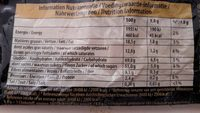 Chokotoff - Nutrition facts
