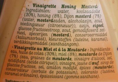 Vinaigrette miel moutarde - Ingrediënten - fr
