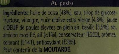 Vinaigrette Pesto - Ingrediënten - fr