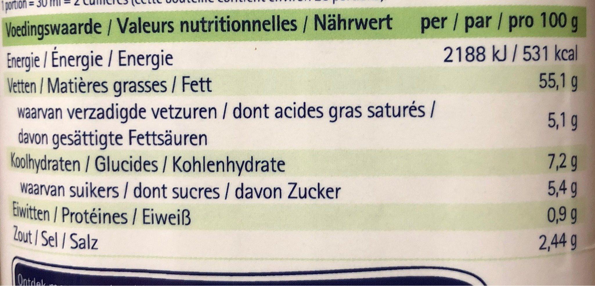 Vinaigrette Pesto - Voedingswaarden - fr