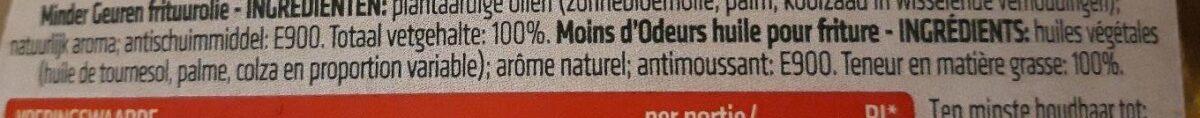 Moins d'Odeurs - Huile pour friture - Ingrediënten - fr