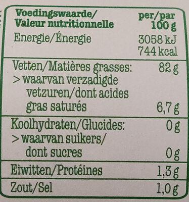 Vandemoortele mayonnaise - Informations nutritionnelles