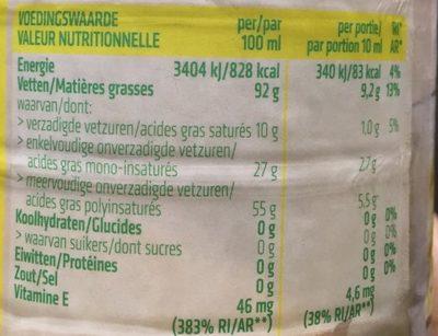Huile De Tournesol - Voedingswaarden - fr
