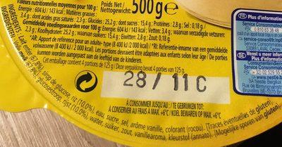Riz au Lait Vanille - Ingrediënten - fr