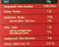 Spicy Cook - Informations nutritionnelles