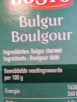 Boulgour - Ingredients - en