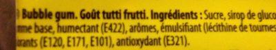 Bubllicious - Ingredienti - fr