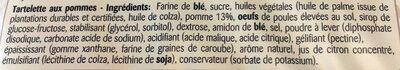 Tartélice - Ingrédients - fr