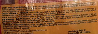 Gaufres Soft Lotus - Ingrediënten - fr