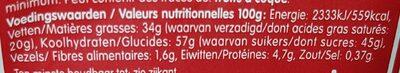 Lotus chocolat au lait - Informations nutritionnelles - fr
