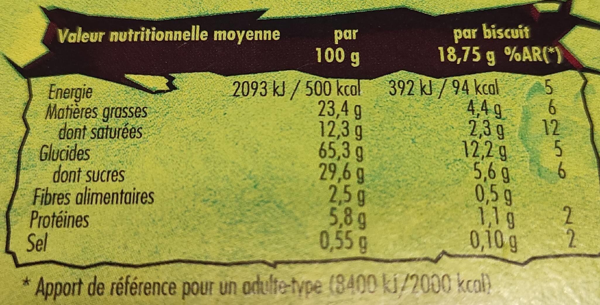 Dinosaurus - Nutrition facts - fr