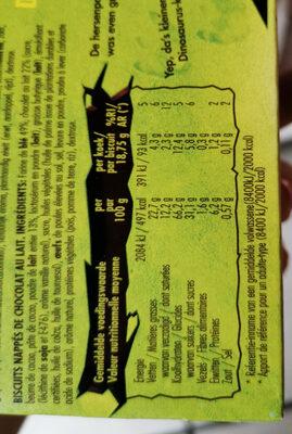 Dinosaurus chocolat au lait - Voedigswaarden