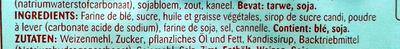 Speculoos - Ingrediënten - fr