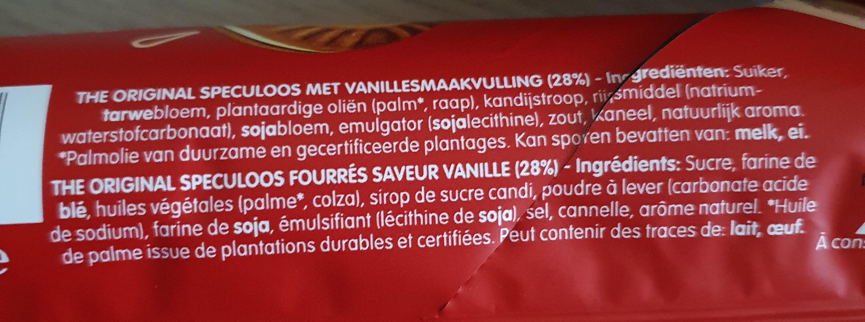 Lotus Speculoos Saveur Vanille - Ingrédients - fr