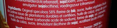 Pâte à tartiner speculoos - Voedingswaarden - fr