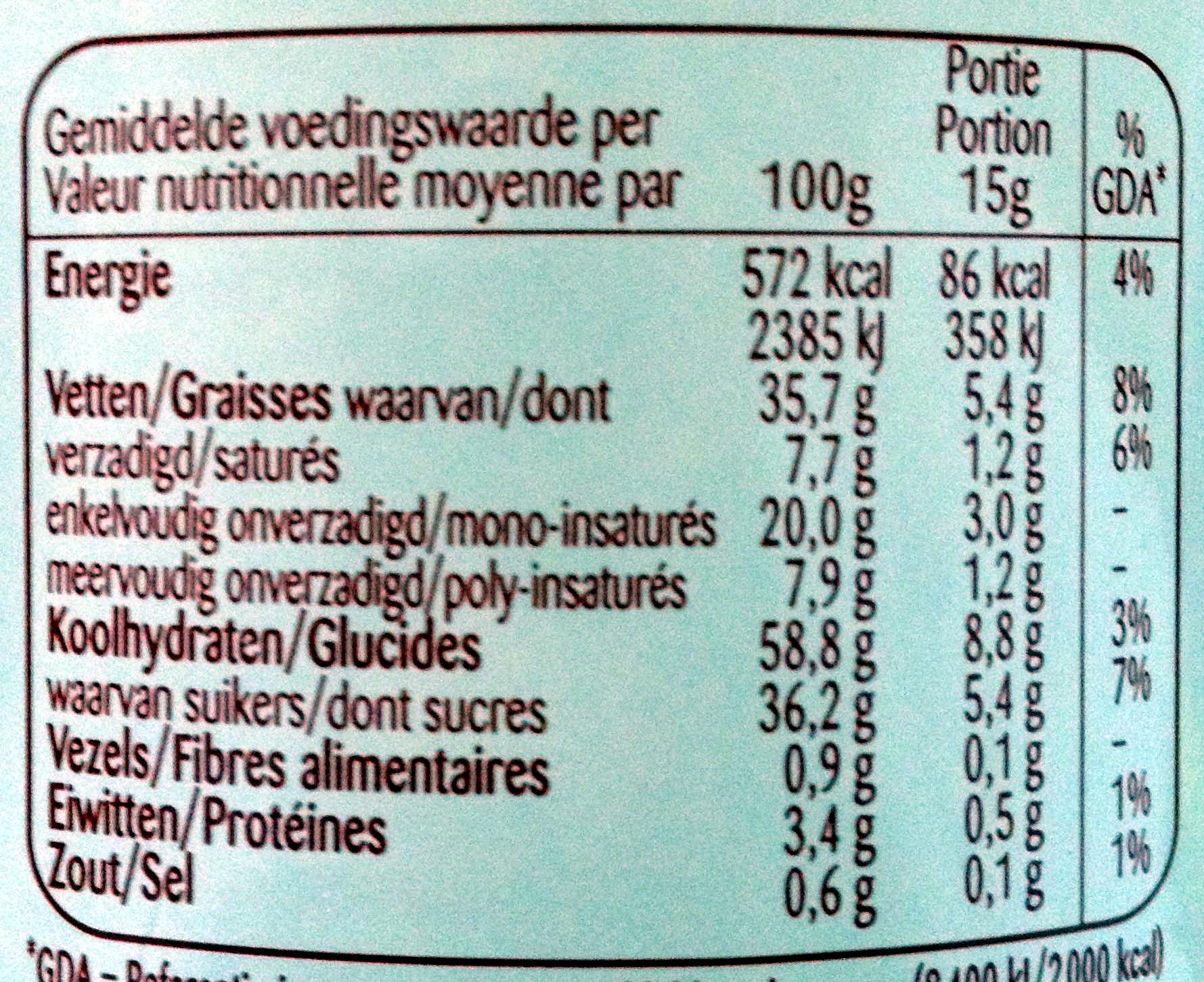 Original Speculoos Crunchy à tartiner - Informations nutritionnelles - fr